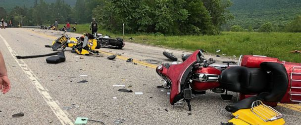 7 dead as truck plows into motorcycles in New Hampshire