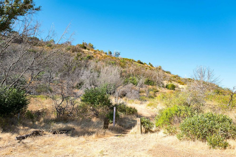 PHOTO: Trailhead for a trail near the summit of Mount Diablo in the San Francisco Bay Area, August 13, 2016.