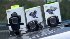 PHOTO: Cell phone mounts for your car from the company iOttie are photographed here.