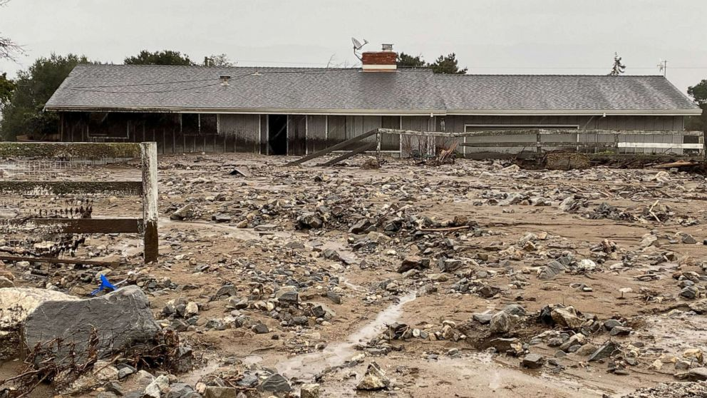 California Mudslides Trap Residents Damage Homes Abc News