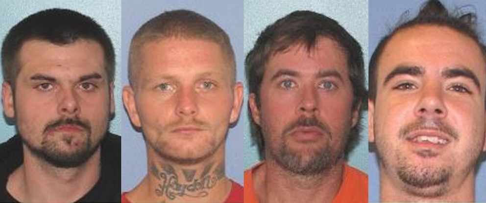 PHOTO: Authorities are searching for four inmates who escaped from the Gallia County Jail in Gallipolis, Ohio, early Sunday morning.