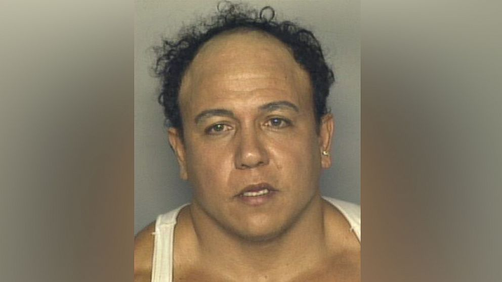 A 2002 booking photo of Cesar Sayoc, who was taken into custody on Oct. 26, 2018, in connection with a spate of suspicious packages and pipe bombs sent to prominent Democrats and critics of Donald Trump.
