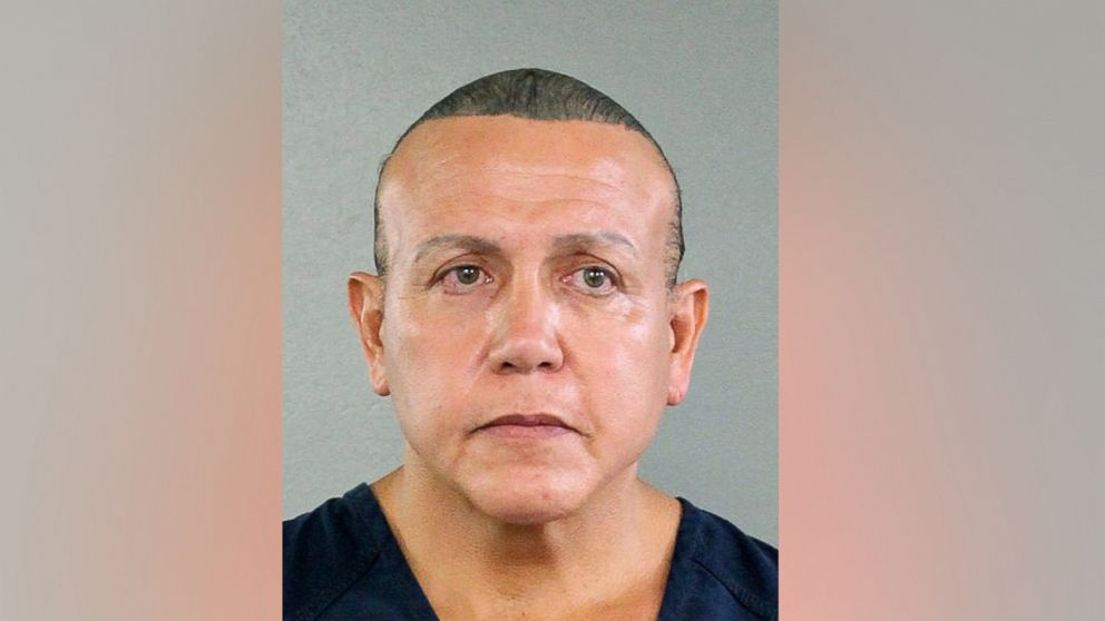 Cesar Sayoc is seen in this undated booking photo, released by the Broward County Sheriff's office and provided by the Associated Press, in Miami.