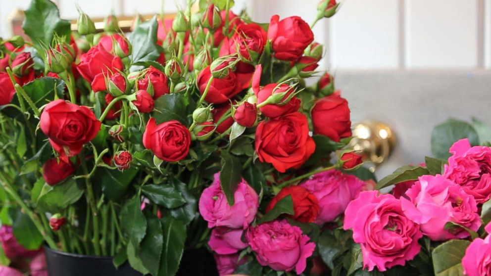 US-grown flowers can be more expensive, Emily Thompson said, but there are several reasons to buy them including carbon footprint. The foliage she uses comes from Puerto Rico.