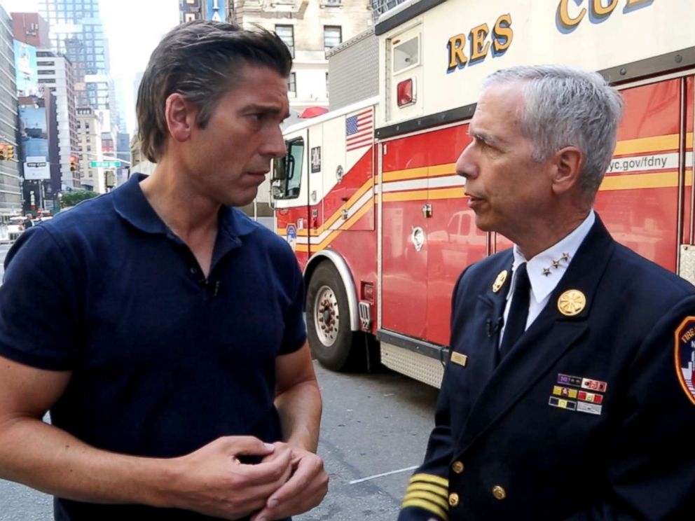 PHOTO: Joe Pfeifer, right, is retiring from the New York Fire Department after 37 years of service.