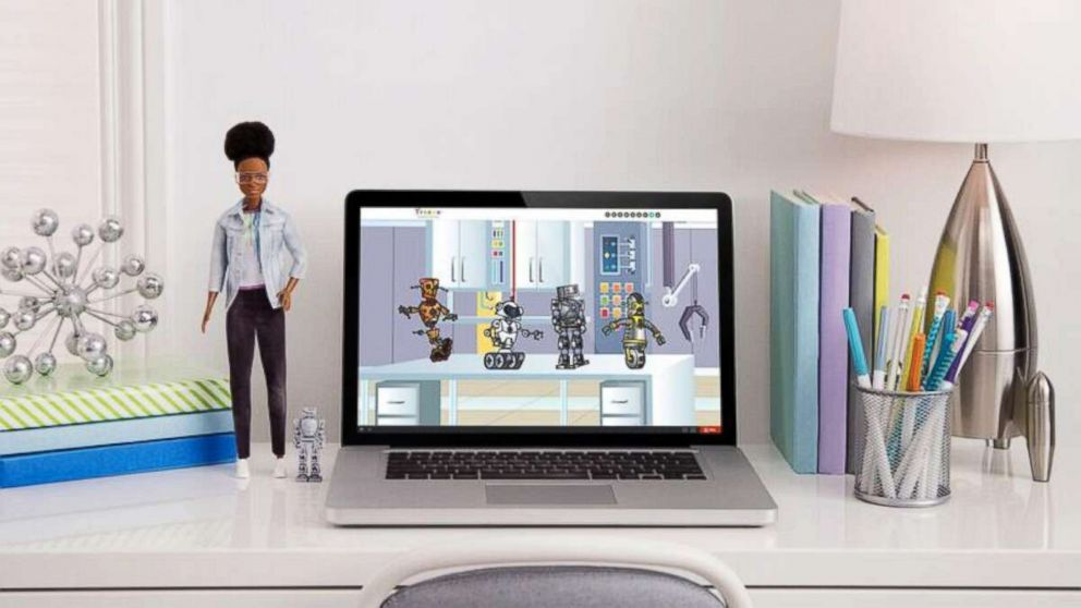 PHOTO: The new barbie comes with a free online course in coding for young children.