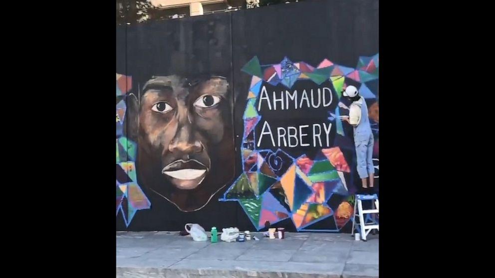 Artists create Black Lives Matter mural outside Portland, Oregon store
