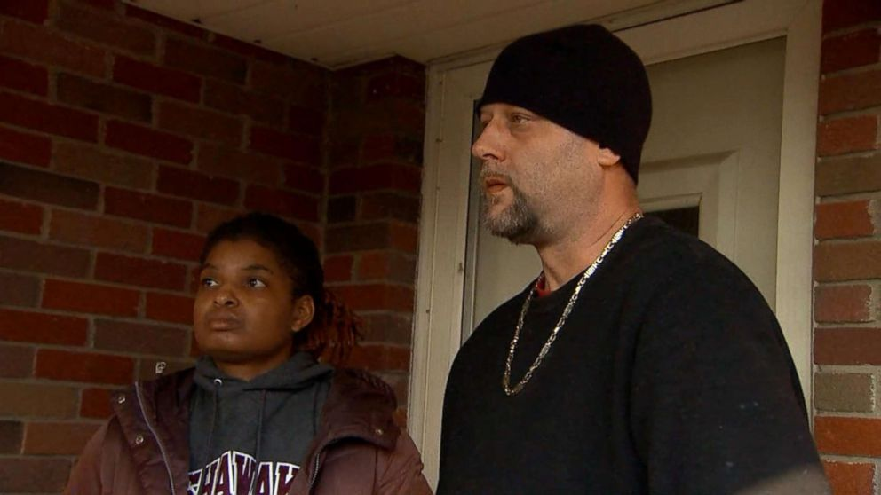 PHOTO: Dave Roushselang annd Nicole Rouhselang, the father and stepmother of murdered 17-year-old Breana Rouhselang, told ABC News outside their Indiana home that theyre still in shock over her death.