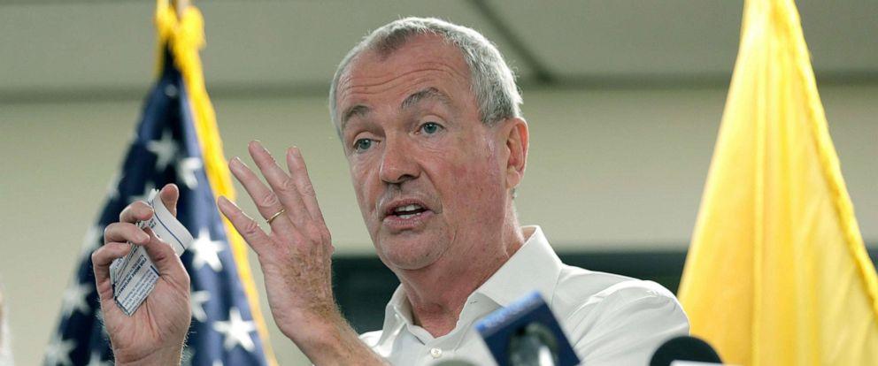 PHOTO: New Jersey Gov. Phil Murphy speaks to reporters in Newark, N.J., Aug. 14, 2019.