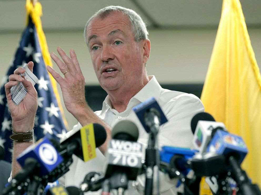 PHOTO: New Jersey Gov. Phil Murphy speaks to reporters in Newark, N.J., Aug. 14, 2019.