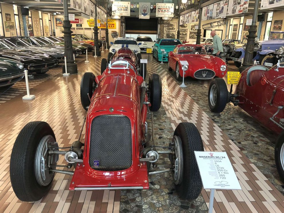 PHOTO: There are several valuable race cars on display, including the 1934 6C/34.