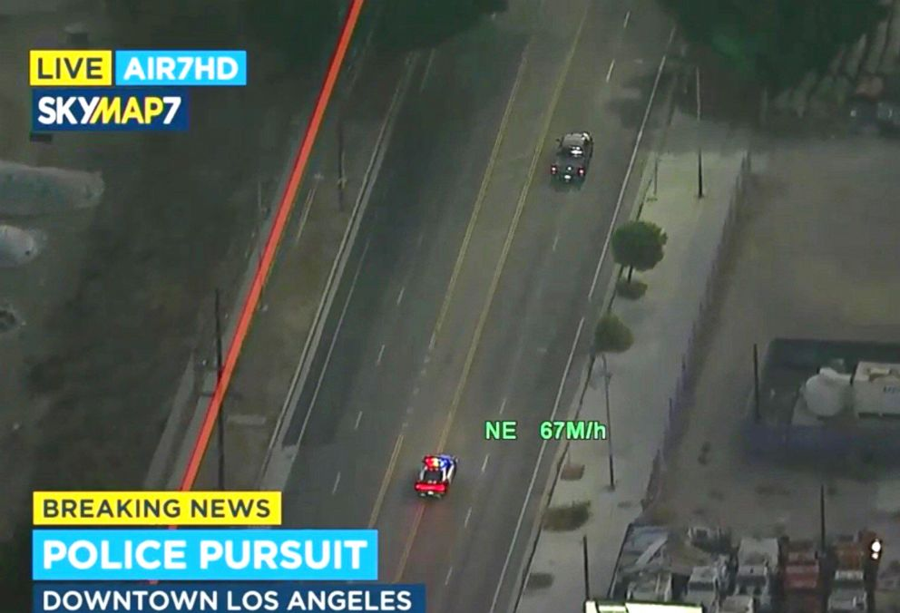 PHOTO: A man was taken into custody after leading police on a chase in Los Angeles, Aug. 31, 2018.