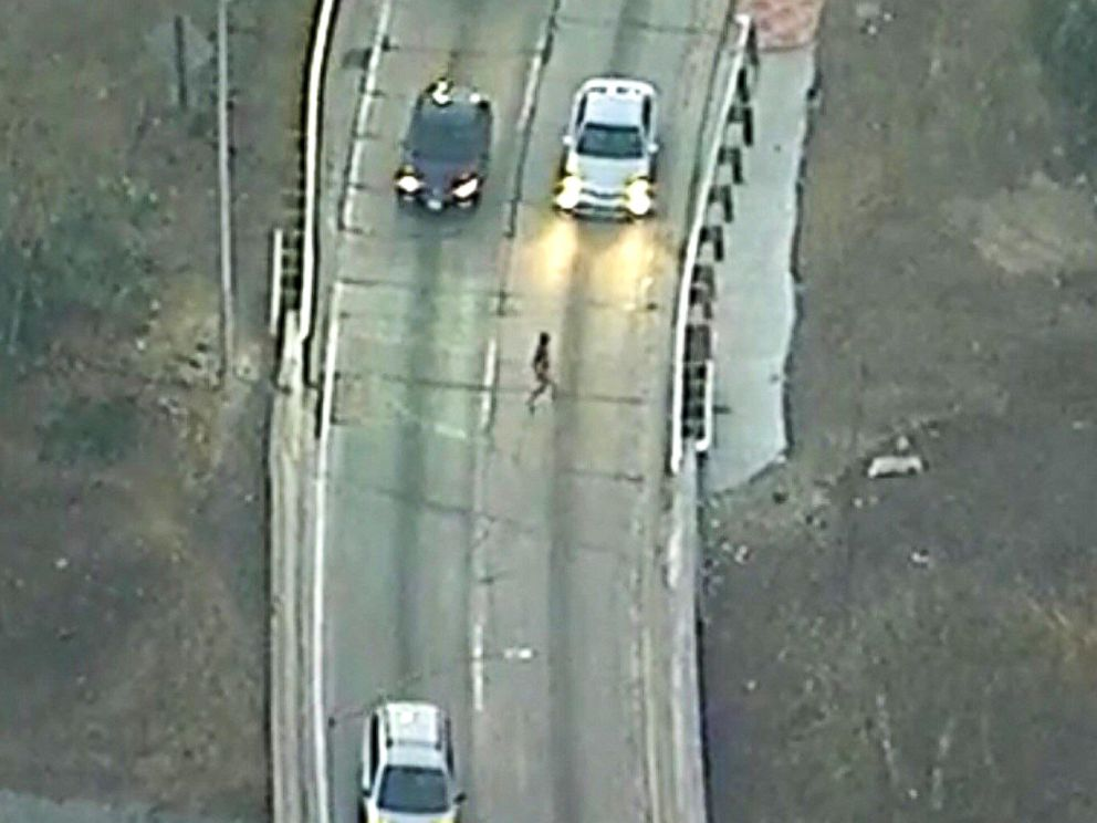 Naked Man in Custody After Leading Police on Chase Across
