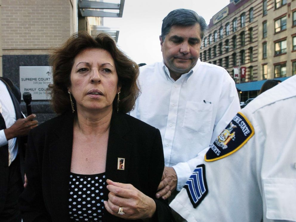 PHOTO: Nancy and Michael Fisher leave Brooklyn Supreme Court after John Guica, one of two men on trial for killing their son, Mark Fisher, was convicted of murder, robbery and weapons charges.