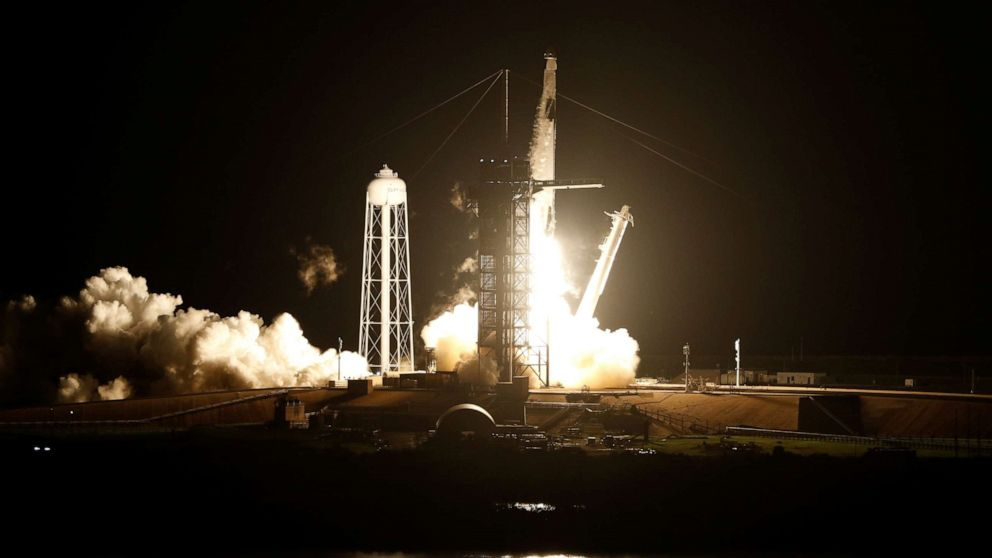 4 Astronauts Launch For Iss In Historic Nasa