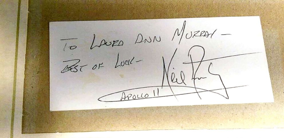 PHOTO: Moon dust apparently given to Laura Murray Cicco of Tennessee by astronaut Neil Armstrong when she was about 10.
