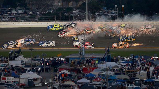 21-car pileup at Daytona 500 creates fiery scene on the speedway