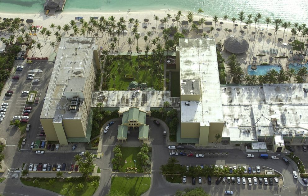 PHOTO: The Holiday Inn hotel is seen along Palm Beach in Aruba, Monday, June 13, 2005, where missing Alabama high school graduate Natalee Holloway stayed before she disappeared on May 30, 2005.