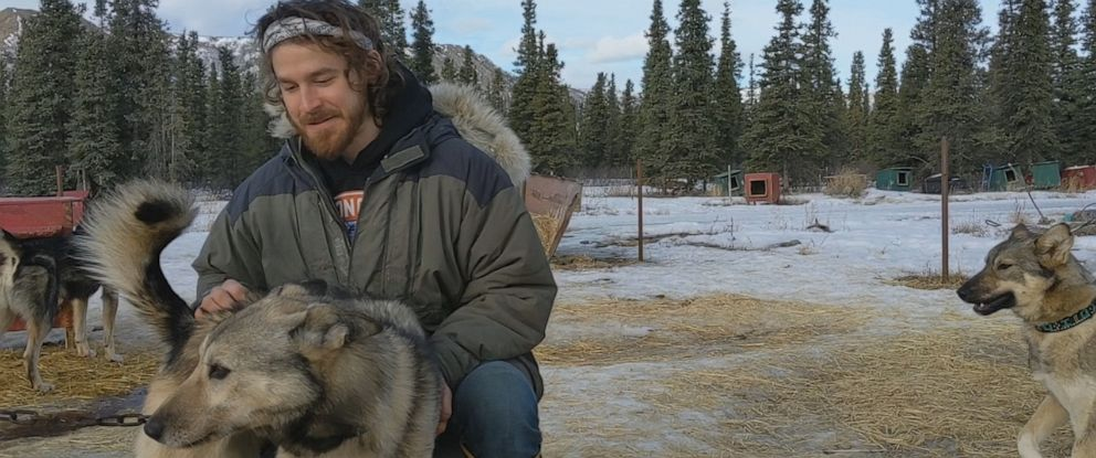 PHOTO: Nathan Kryzinski, 24, deferred a future in civil engineering for a life on the Alaskan frontier as a sled dog musher.