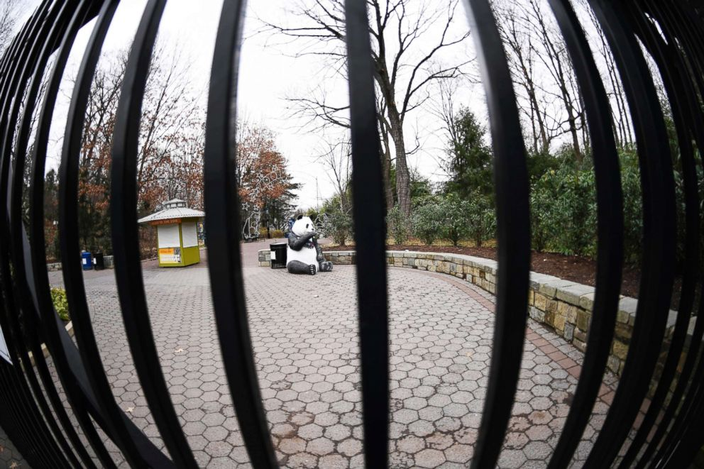 PHOTO: The gate of the National Zoo in Washington D.C. is pictured on Jan. 2, 2019.