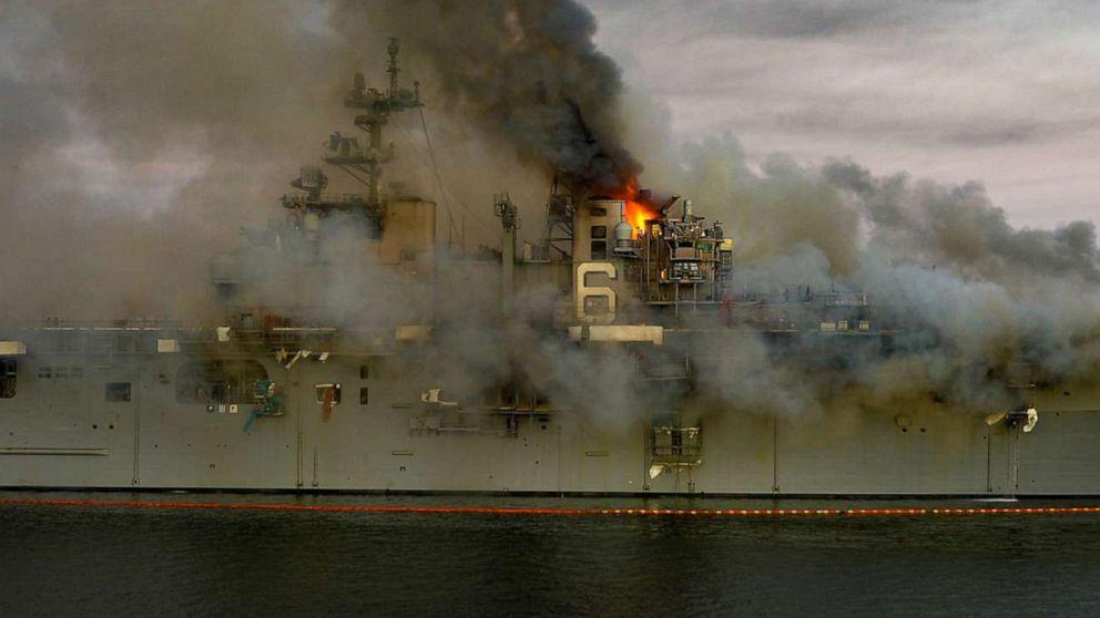Причиной пожара на УДК Боном Ричард был поджог