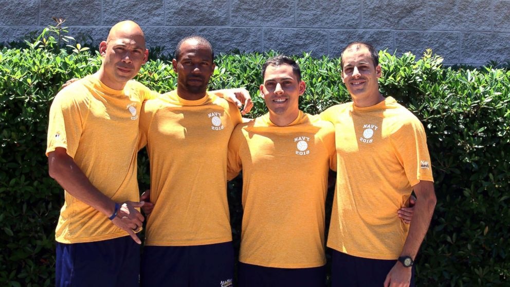 All-Navy Volleyball players Chief Petty Officer Aniahau Desha, Hospitalman Gaston Yescas, Petty Officer 1st Class Sheldon Lucius, and Petty Officer 3rd Class Joshua Essick risked themselves to save the lives of two teenage girls at Naval Station Mayport beach, Florida.