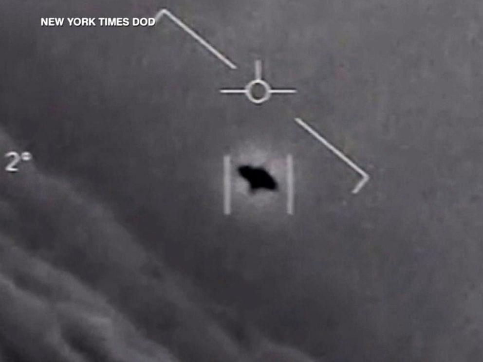 PHOTO: An unidentified flying object shown in a photo first obtained by the New York Times.
