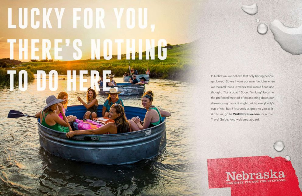 PHOTO: Nebraska is trying to lure tourists to the state with its self-deprecating ad campaign.