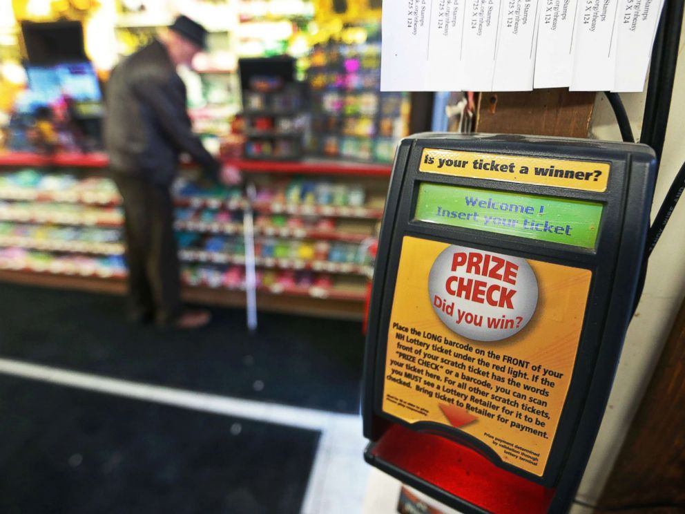 PHOTO: A ticket checking machine is pictured inside Reeds Ferry Market in Merrimack, NH, where a winning ticket in a $560 million Powerball jackpot was sold, Jan. 8, 2018.