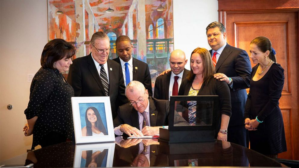 "New Jersey Governor Phil Murphy signs ""Alyssa's Law,"" requiring New Jersey public schools to install silent alarms to alert law enforcement in case of emergencies, in Trenton, N.J., Feb. 6, 2019."