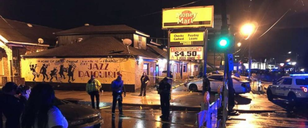 Three people were killed and another seven injured in a shooting in New Orleans on Saturday, July 28, 2018.