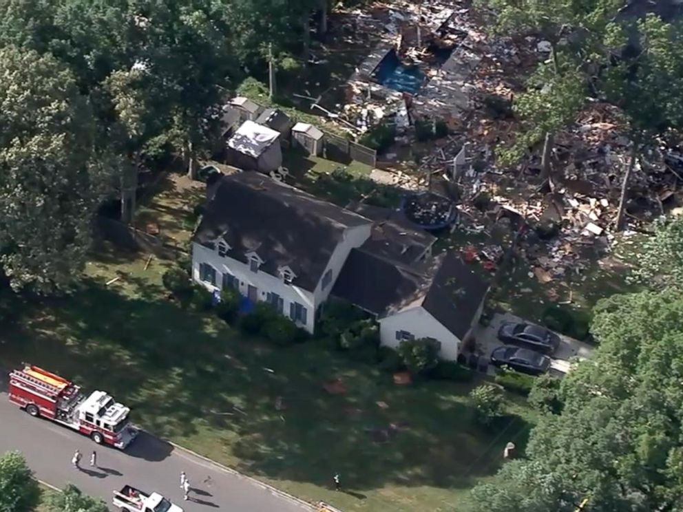 PHOTO: Two people died in a house explosion in Newfield, N.J., on July 8, 2018, officials said.