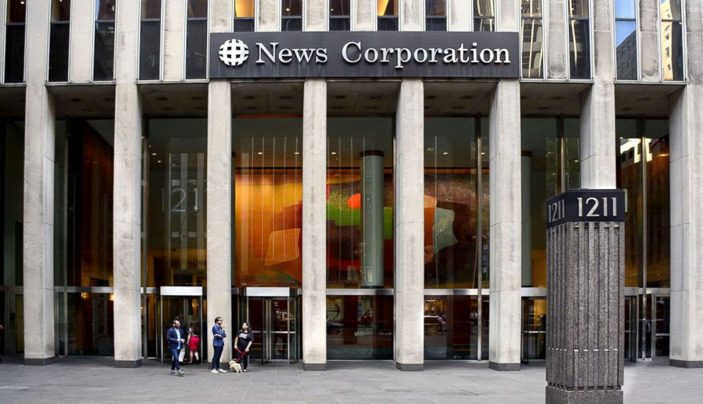 PHOTO: The News Corporation building in New York City is the headquarters for the American mass media company which owns The Wall Street Journal, 21st Century Fox and The Fox News Channel.