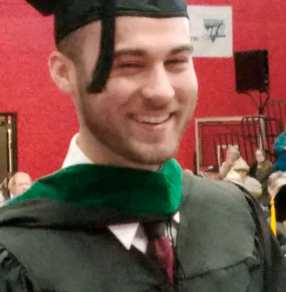 PHOTO: Nicholas Cumer, one of the victims in a shooting, Aug. 4, 2019, at a popular nightlife area in Dayton, Ohio, in a photo provided by the Cumer family. Cumer was a graduate student in the master of cancer care program at Saint Francis University.