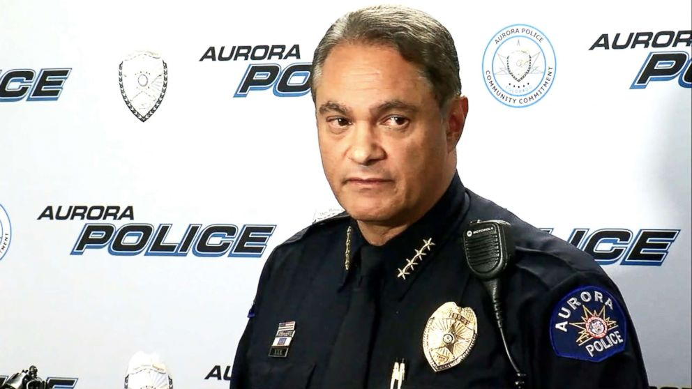 PHOTO: Aurora Police Chief Nicholas Metz describes the July 30 shooting that killed veteran Gary Black, a Purple Heart and Bronze Star recipient.