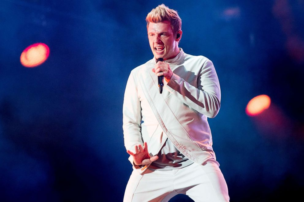 PHOTO: Nick Carter of Backstreet Boys performs onstage headlining Day 4 of the 50th Festival Dete De Quebec at Plains of Abraham on the Main stage stage, July 9, 2017 in Quebec City, Canada.