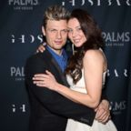 Nick Carter and Lauren Kitt arrive in Las Vegas, Nevada.