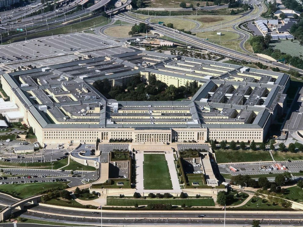 PHOTO: An aerial view of the Pentagon building photographed on Sept. 24, 2017.