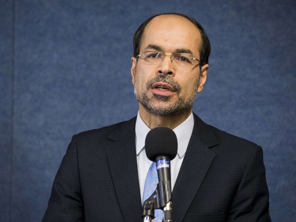 PHOTO: Nihad Awad, Executive Director of the Council on American-Islamic Relations, speaks at the National Press Club in Washington, DC, Dec. 5, 2017.