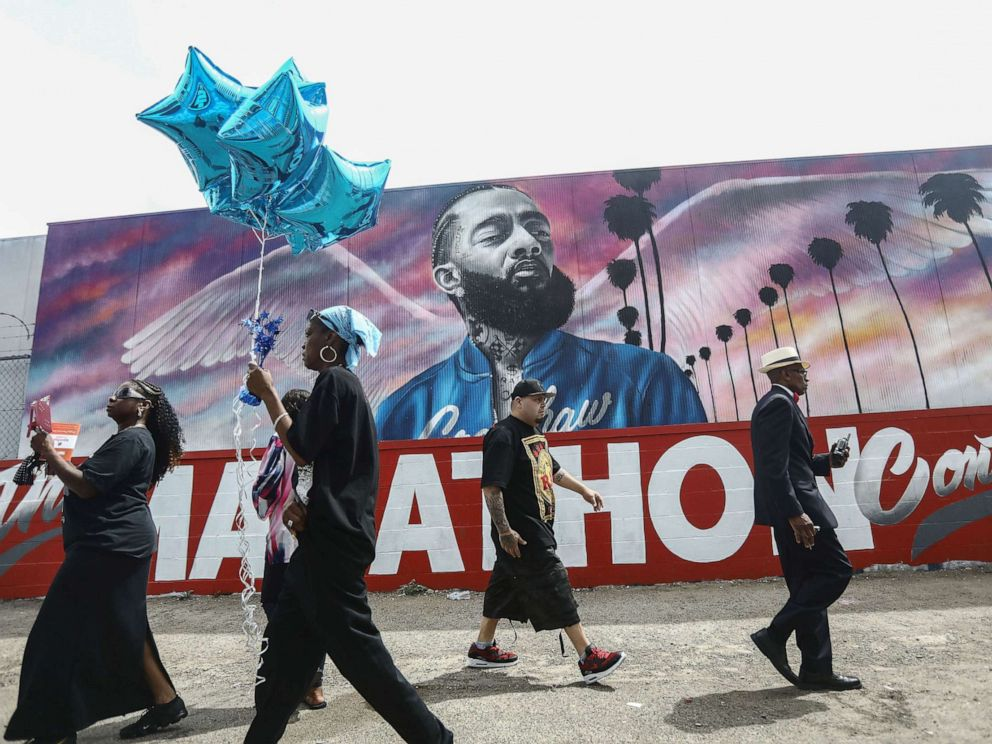 Thousands attend Nipsey Hussle's funeral at Staples Center
