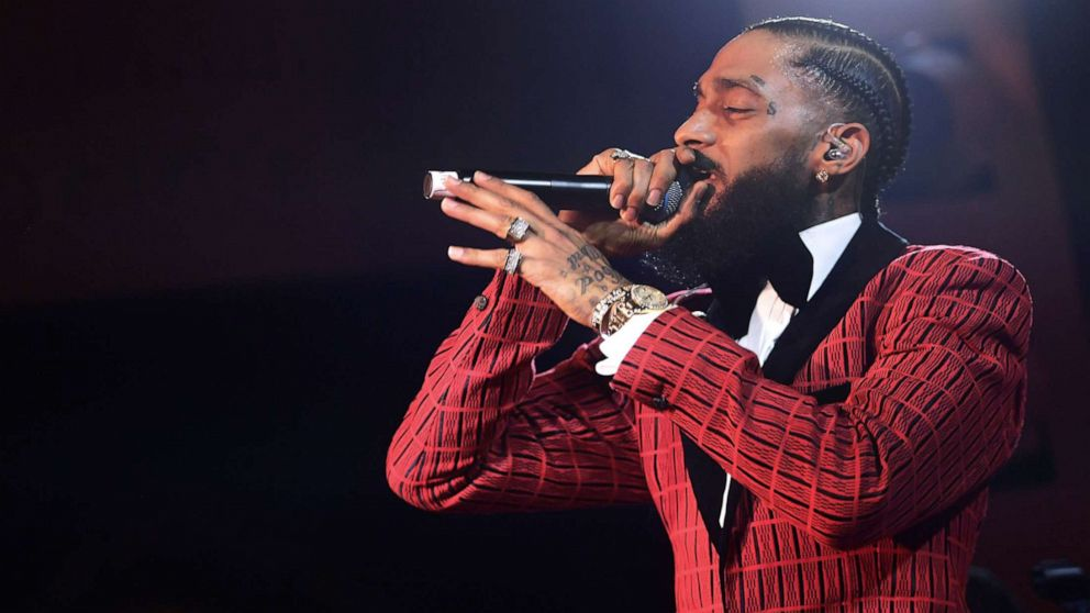 Rapper Nipsey Hussle performs at the NoMad Hotel, Feb. 7, 2019 in Los Angeles. Hussle was shot and killed outside his clothing store in South Los Angeles, March 31, 2019.