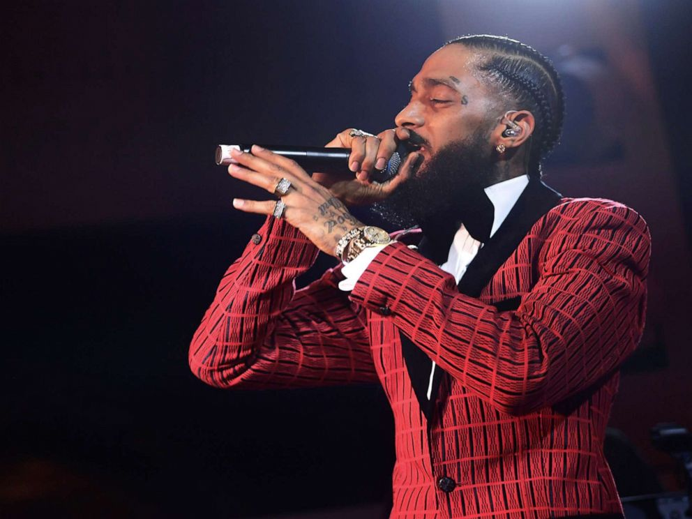 PHOTO: Rapper Nipsey Hussle performs at the NoMad Hotel, Feb. 7, 2019 in Los Angeles. Hussle was shot and killed outside his clothing store in South Los Angeles, March 31, 2019.