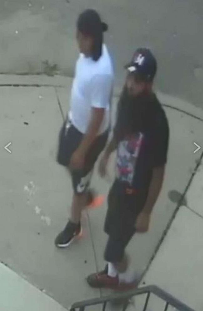 PHOTO: The Camden County Prosecutors Office is seeking the publics assistance in identifying two persons of interest who may have information concerning the shooting of two undercover Camden County Metro Detectives the night of August 7, 2018.  Photos released in manhunt for 2 men wanted in ambush attack on New Jersey police nj cop shooting 02 ht jrl 180808 hpEmbed 9x14 992