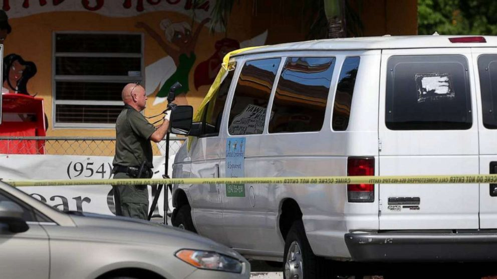 PHOTO: The body of 2-yr-old Noah Sneed is transported to the Broward County coroners office, July 30, 2019, in Broward, Fla.