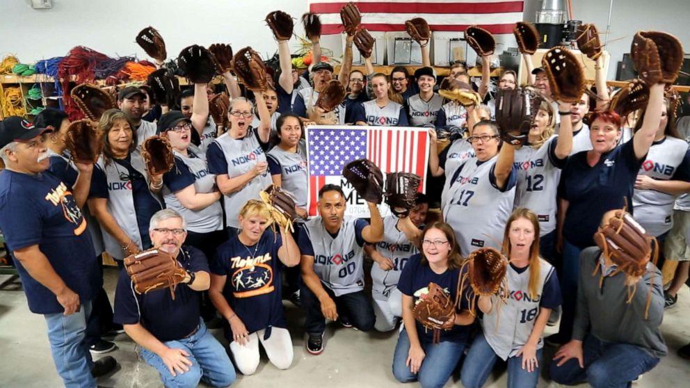 PHOTO: Nokona Ball Gloves in Nocona, Texas, employs 50 workers.