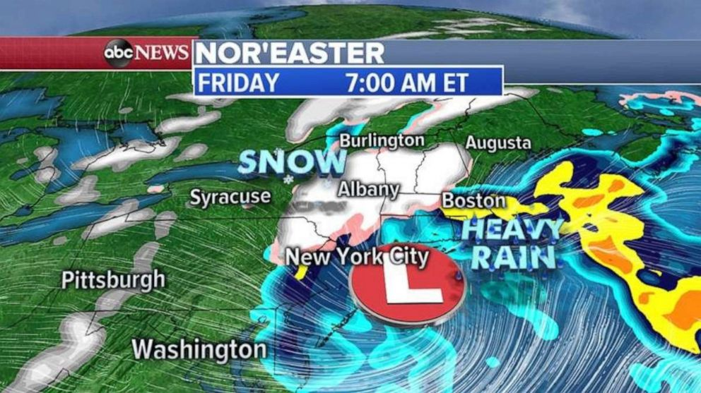 The nor'easter that soaked the Mid-Atlantic and Northeast is starting to move out of the region on Friday.