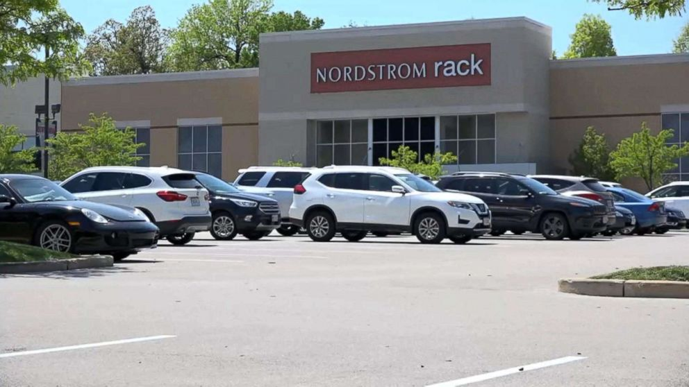 The exterior of the Brentwood Square Nordstrom Rack located in Brentwood, Missouri.