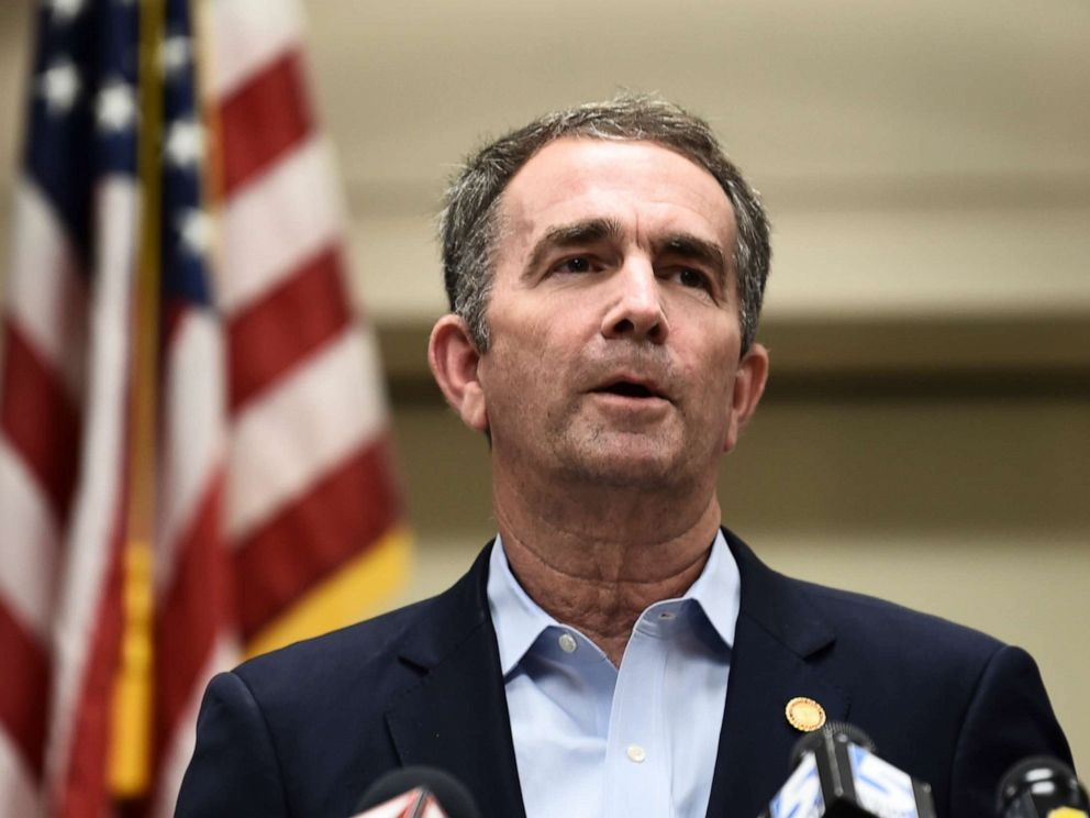 PHOTO: Governor Ralph Northam speaks to the press about a mass shooting on June 1, 2019, in Virginia Beach, Va.