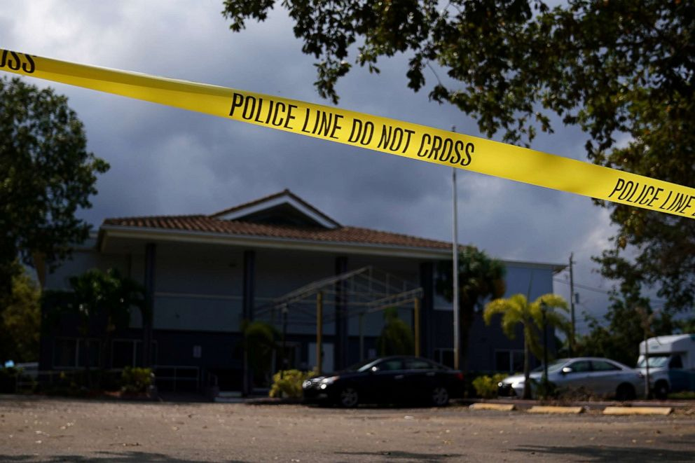 PHOTO: Police tape surrounds the Rehabilitation Center at Hollywood Hills in Hollywood, Fla., Sept. 13, 2017.