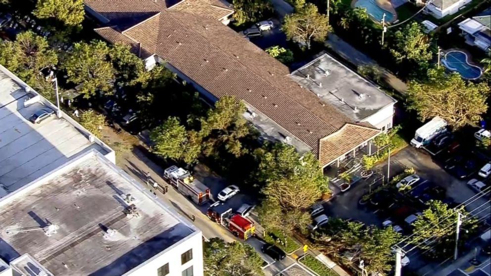 Hurricane Irma knocks out air conditioning at the Rehabilitation Center of Hollywood Hills in Hollywood, Fla.